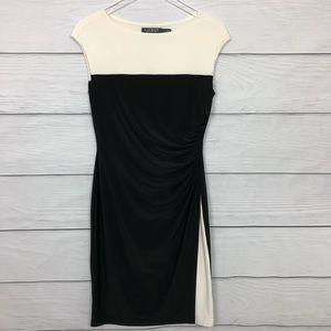 Lauren Ralph Lauren Black and Ivory Dress Sz 6